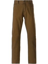 Canali Straight Leg Jeans Brown