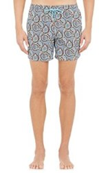 Roda Paisley Swim Trunks Red