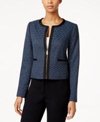Tommy Hilfiger Jacquard Zip Front Jacket Peacock Multi