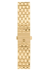 Michele 'Deco' 18Mm Gold Plated Bracelet Watchband