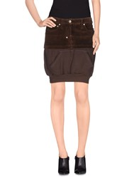 Frankie Morello Skirts Knee Length Skirts Women Cocoa