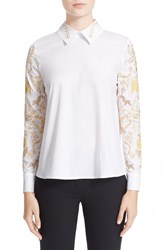 Vivetta Embroidered Long Sleeve Top White