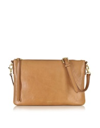 Fossil Sydney Top Zip Flat Crossbody Bag Camel