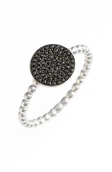 Women's Bony Levy 'Aurora' Diamond Pave Circle Ring Black Diamond White Gold Nordstrom Exclusive