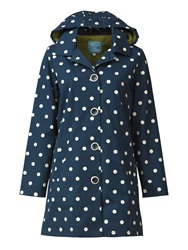 Tulchan Fleece Lined Printed Mac Blue
