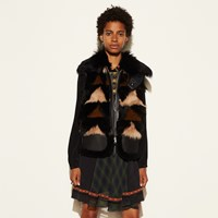 Coach Patchwork Combo Vest Black