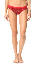 Natori Exotic Flower Tanga Real Red Combo