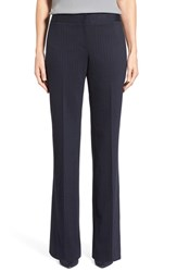 Petite Women's Classiques Entier Pinstripe Bootcut Trousers Navy Charcoal Pinstripe