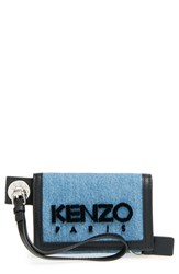 Women's Kenzo Denim Wallet Blue