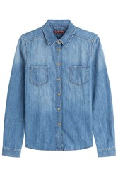 7 For All Mankind Seven For All Mankind Denim Shirt Blue