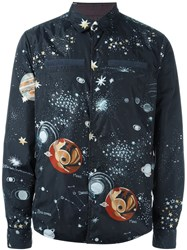 Valentino 'Astro Couture' Shirt Jacket Blue