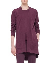 Akris Punto Long Sleeve Open Front Cardigan Garnet Red