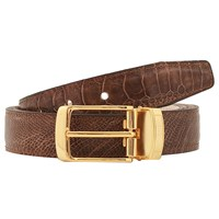 Volstruis Ostrich Shin Leather Belt Gold