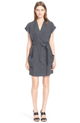 Ayr Linen Trench Dress Grey Mineral