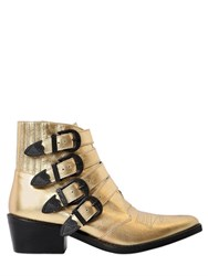 Toga Pulla 50Mm Metallic Leather Boots W Buckles