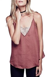 Free People Women's Lace Inset Plunging Camisole