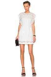 Mcq By Alexander Mcqueen Mcq Alexander Mcqueen Lace Cape Dress In White