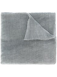 Agnona Pleated Scarf Grey