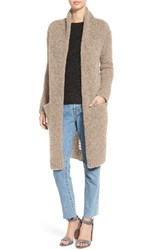 Current Elliott Women's 'The Long' Slash Back Cardigan Camel