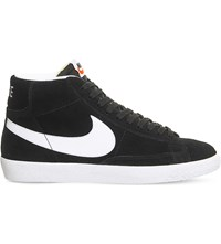 Nike Blazer Mid Top Suede Trainers Black White