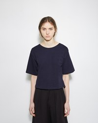 Apiece Apart Cropped Short Sleeve Tee Navy