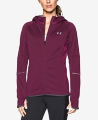 Under Armour Hooded Zip Storm Jacket Maroon Steel