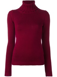Zanone Turtleneck Jumper Red
