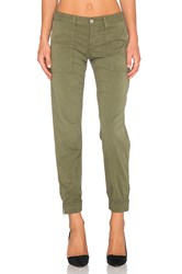 Joe's Jeans Edita Flight Zip Ankle Jogger Olive