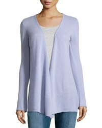 Minnie Rose Cashmere Open Front Duster Cardigan Violette