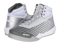 And 1 Ascender Bright White Glacier Grey Bright White Men's Basketball Shoes Gray