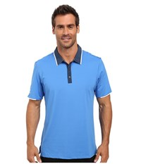 Adidas Climacool Performance Polo Ray Blue Men's Clothing