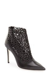 Women's Jimmy Choo 'Maurice' Perforated Bootie Black Leather
