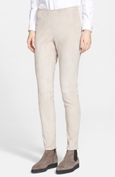 Fabiana Filippi Stretch Suede Leggings Beige