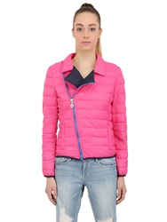 Invicta Quilted Nylon Puffer Jacket Fuchsia Blue