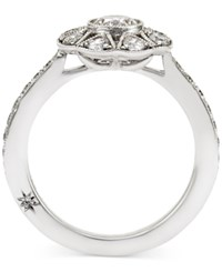 Antique Star By Marchesa Certified Diamond Engagement Ring In 18K White Gold 1 Ct. T.W.