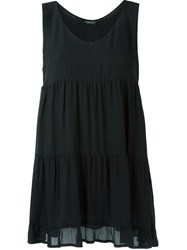 Twin Set Panelled Sleeveless Top Black