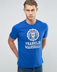 Franklin And Marshall Large Logo T Shirt Academy Blue