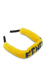 Fendi Lace Glasses Shearling Neck Cord Yellow
