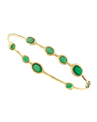 Ippolita Green Agate Rock Candy Bangle