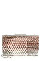 Glint Ombre Crystal Topper Clutch Pink Blush