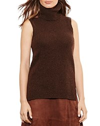 Ralph Lauren Sleeveless Turtleneck Sweater Chocolate