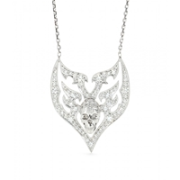 Stone 18Kt White Gold Sympathy For The Devil Necklace