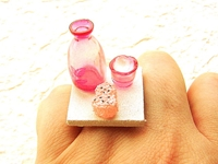 Pink Sake Drink Bottle Cup And Onigiri Rice By Souzoucreations