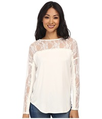 Kut From The Kloth Farley Top White Women's Long Sleeve Pullover