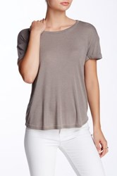 Candc California Mikka Rolled Cuff Tee Gray