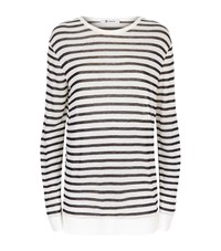 Alexander Wang T By Stripe Long Sleeve T Shirt Female White