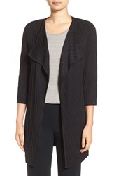 Ming Wang Women's Drape Front Long Sweater Jacket