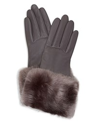 Ted Baker Emree Leather Gloves Gunmetal