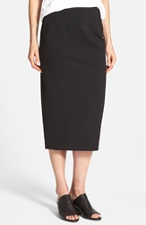 Eileen Fisher Midi Ponte Pencil Skirt Black
