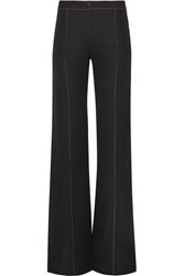 Christophe Lemaire Wool Gabardine Flared Pants Black